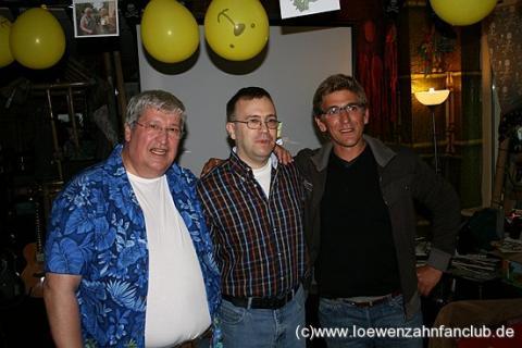 Helmut Krauss,Fanclub Mitglied Knochen, und Guido Hammesfahr