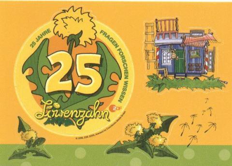 25 Jahre Löwenzahn Postkarte
