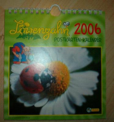 Postkarten Kalender Löwenzahn 2006