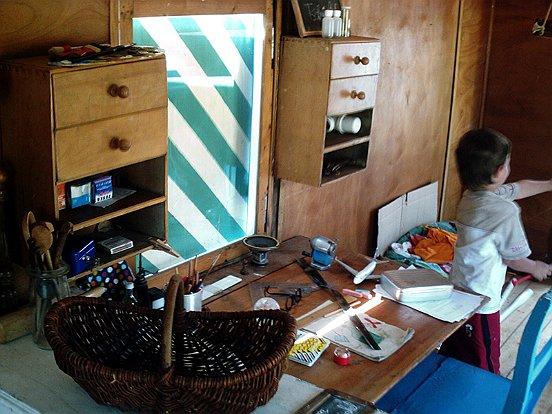 Peters Schreibtisch