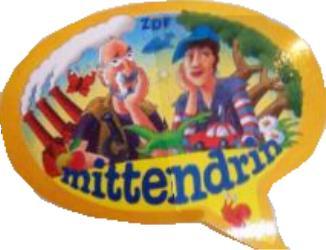 Mittendrin Werbesticker mit Peter Lustig